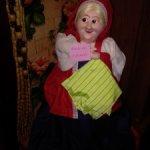 Кукла, грелка на самовар. СССР Чайница.