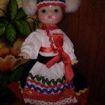 Кукла СССР. Национальный костюм. Загорская. Паричковая.