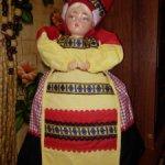 Кукла, грелка на самовар. СССР Чайница. Василиса.