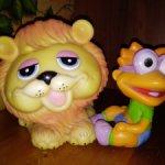 Игрушки лев и малыш