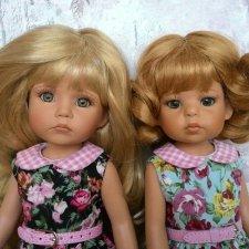 Сестрички - сладкие губки, пухлые щечки. Куклы от Linda Rick 33см
