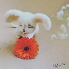 Мышка сплюшка. Авторские игрушки сухим валянием Потапенко Софьи