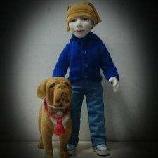 Авторская портретная кукла Тимофей из шерсти