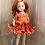 Авторский наряд для кукол 30-35 см