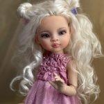 Платье с буфами и туфельки  для кукол Paola Reina и других подобных