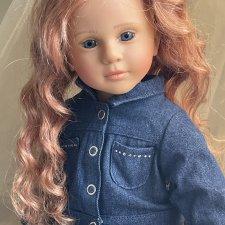 Кукла  Isi von Gudrun Legler. ( Шильдкрет Иси в джинсовой куртке от Гудрун Леглер)