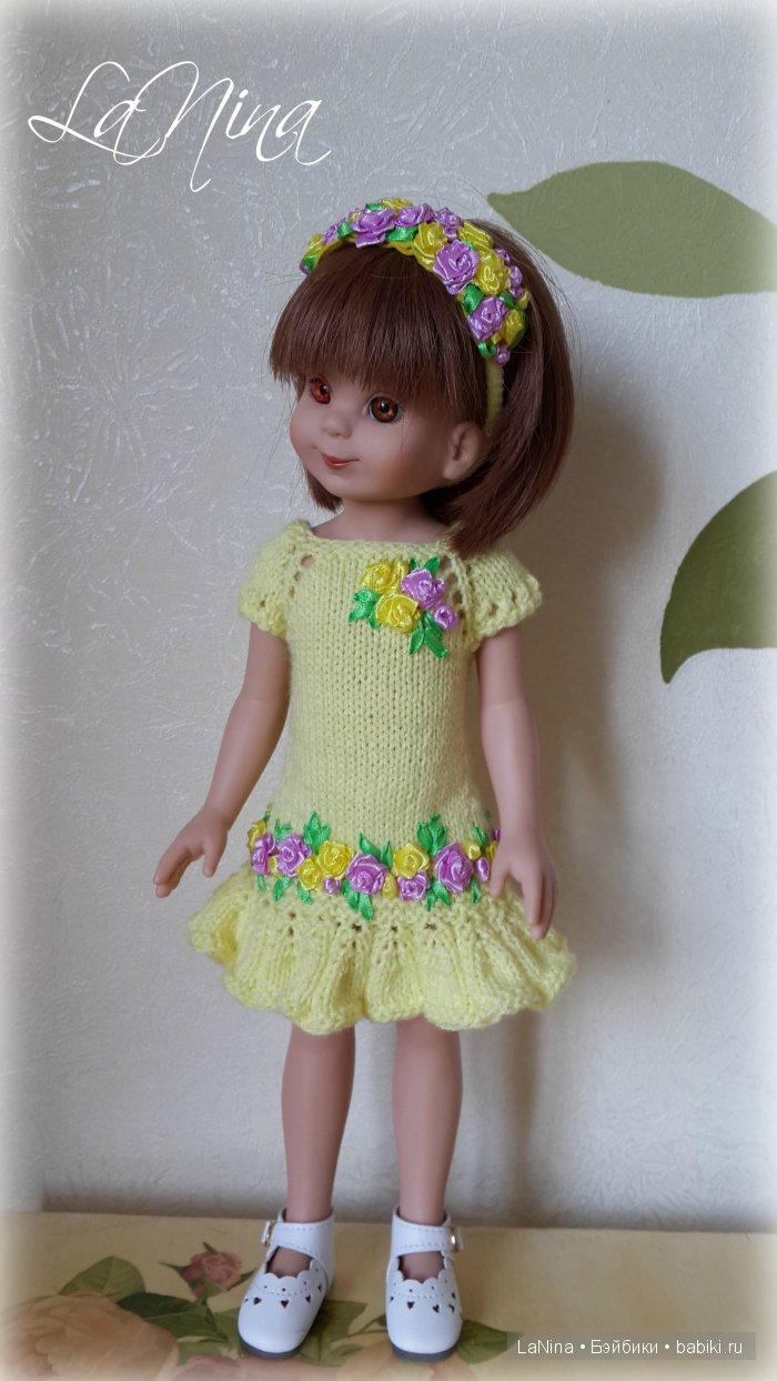 Платье и ободок с вышивкой из лент на Бетси