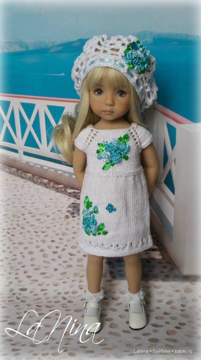 Платье с беретом для куклы Дианны Эффнер