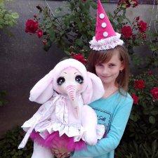 Розовое счастье! Слоны, игрушки  ручной работы. Они такие большие и добрые