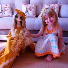 Детство-самое счастливое время. Текстильные куклы