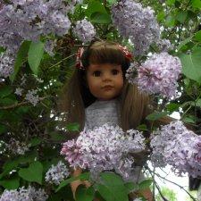 Первая прогулка с куклой Готц