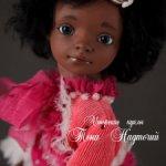 Авторская кукла Шоколадно-ягодное пирожное
