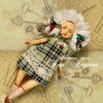 Авторская трехликая кукла с маской
