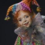 Авторская будуарная кукла Арлекино