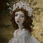 Авторская будуарная кукла Белая ночь