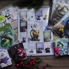 Календари и тетради на 2018 год с моими мишками тедди