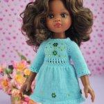 Платье+носочки для кукол Паола Рейна