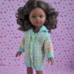 Кардиган + носочки для кукол Паола Рейна