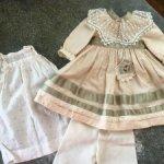 Комплект одежды для антикварной куклы
