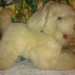 Винтажный мохеровый щенок