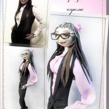 Портретные куклы из ткани Ольги Шахно