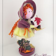 Осенняя девчушка. Кукла из ткани