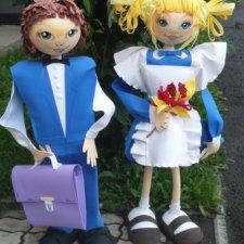 К школе готовы. Куклы из ткани своими руками