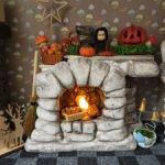 Камин с огоньком для куколок до 20 см ростом