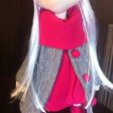 Интерьерная текстильная кукла ручной работы большеножка Саша