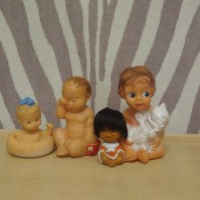 4 резиновые игрушки лотом