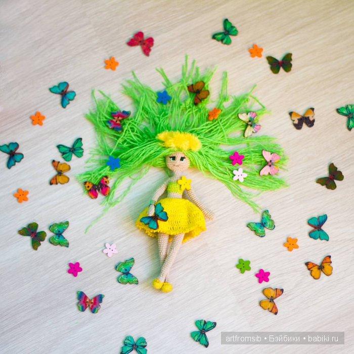 Девочка Весна, вязание крючком