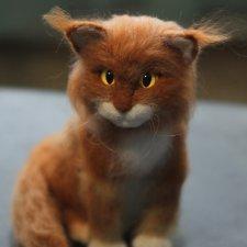 Кот мейн кун, в технике - сухое валяние