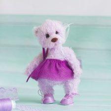 Тедди мишка Мишель вязаная крючком