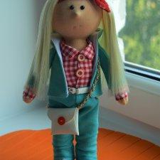 Интерьерная текстильная куколка Лёсик