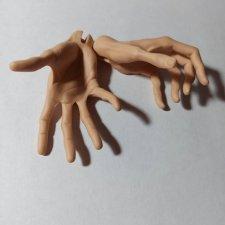 Жестовые руки 5th motif Venitu в copper oriental