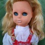 Красивая кукла ГДР Сонни длинные волосы