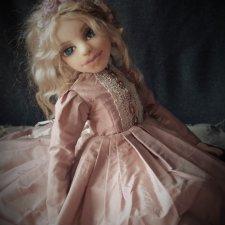 Кукольный наряд. Авторская текстильная кукла Pink