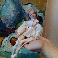 Продолжение предыдущей темы. Текстильные  шарнирные куклы