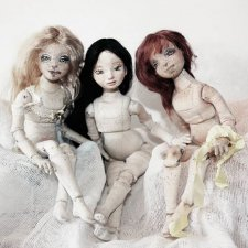Текстильная шарнирная кукла. Продолжение 3