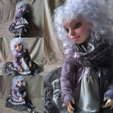 Это опять из серии: текстильная подвижная кукла. Меня зовут Василиса или просто Вася