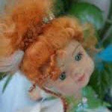 Нимфа горного ручья. Кукла из шерсти
