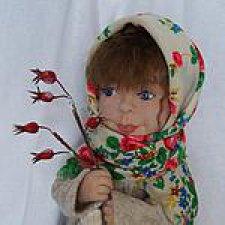Куклы из шерсти. Дария. В зимний лес за огоньками