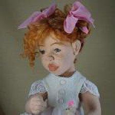 Кукла из шерсти.Соня. Бело-розовое счастье