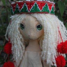 Ярина, пробные фото. Кукла из ткани