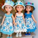 Красивые платья и шляпки ДЛЯ КУКОЛ ПАОЛА РЕЙНА И ПОДОБНОГО ИМ ФОРМАТА