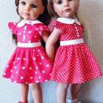 Красивые летние платья для кукол ГОТЦ и кукол с похожими размерами