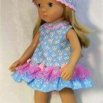 Платье с панамкой А-силуэта на разных куколок.