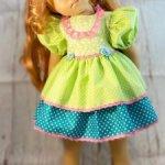 Платье для кукол ростом 60-65см.
