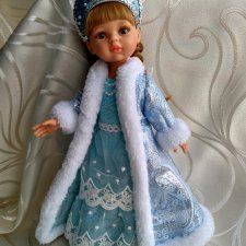 кокошник снегурочки для куклы