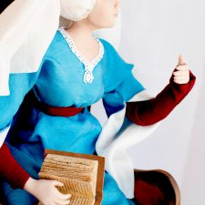 Моя авторская кукла Кристина Пизанская